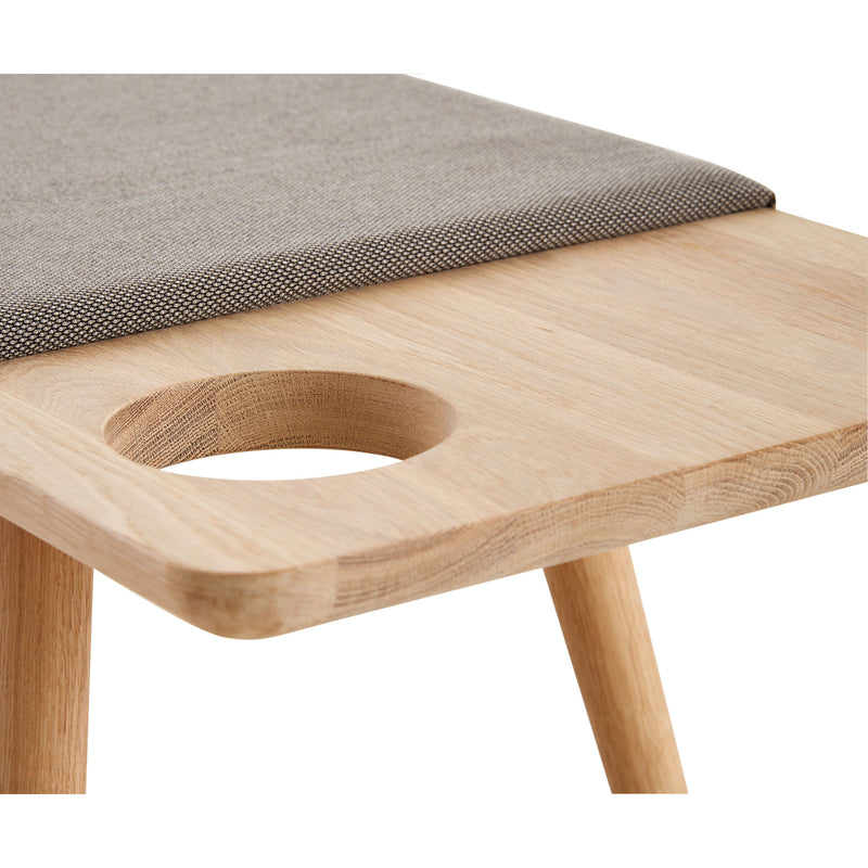 Woud Baenk Bench , White Pigmented Oak-Gabriel Breeze Fusion 4002