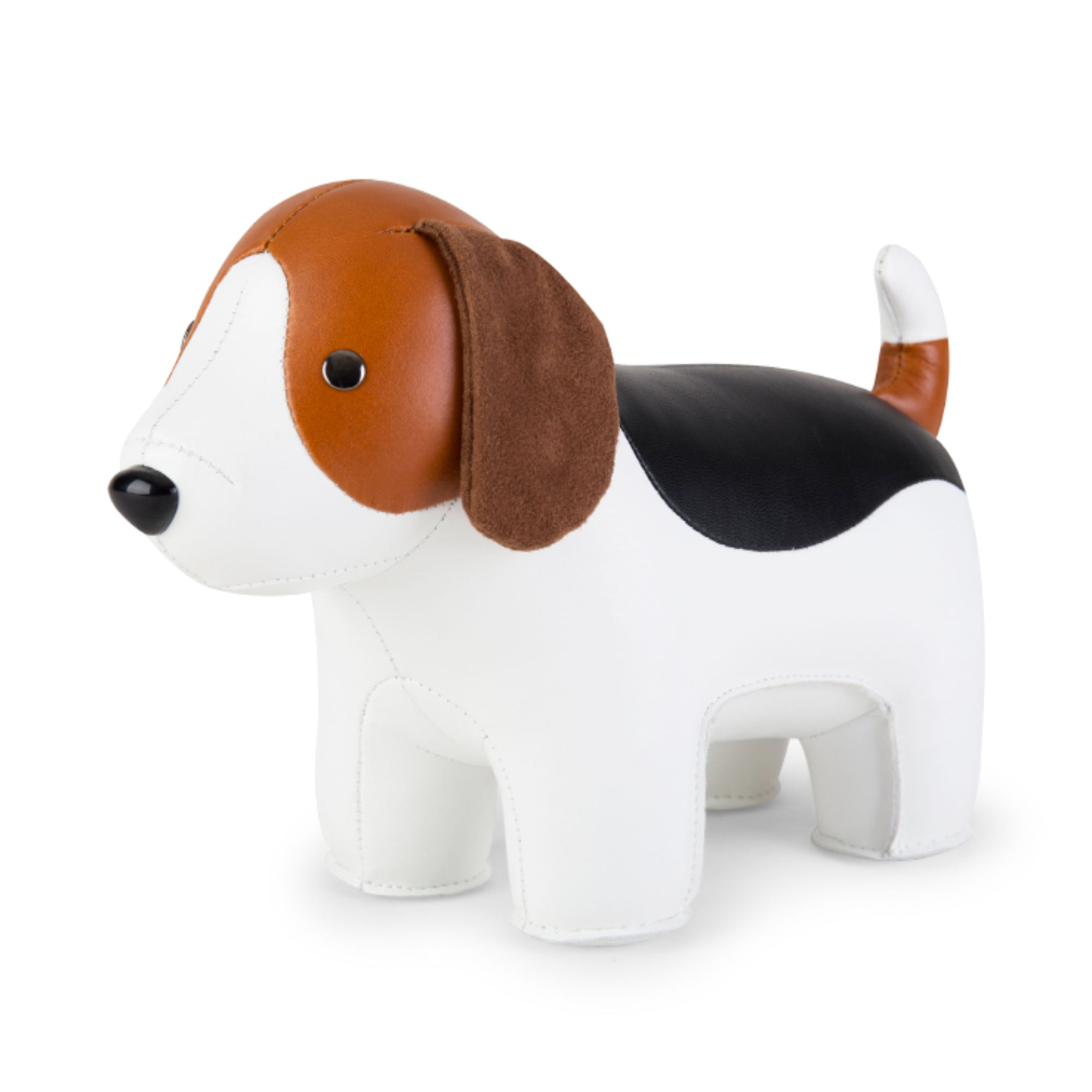Zuny Classic Beagle bookend, white - tan