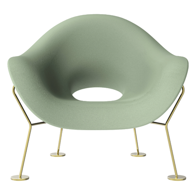 Qeeboo Pupa Armchair Indoor Brass Base