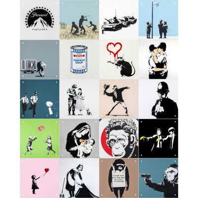 IXXI Banksy Collage , 20 Pcs
