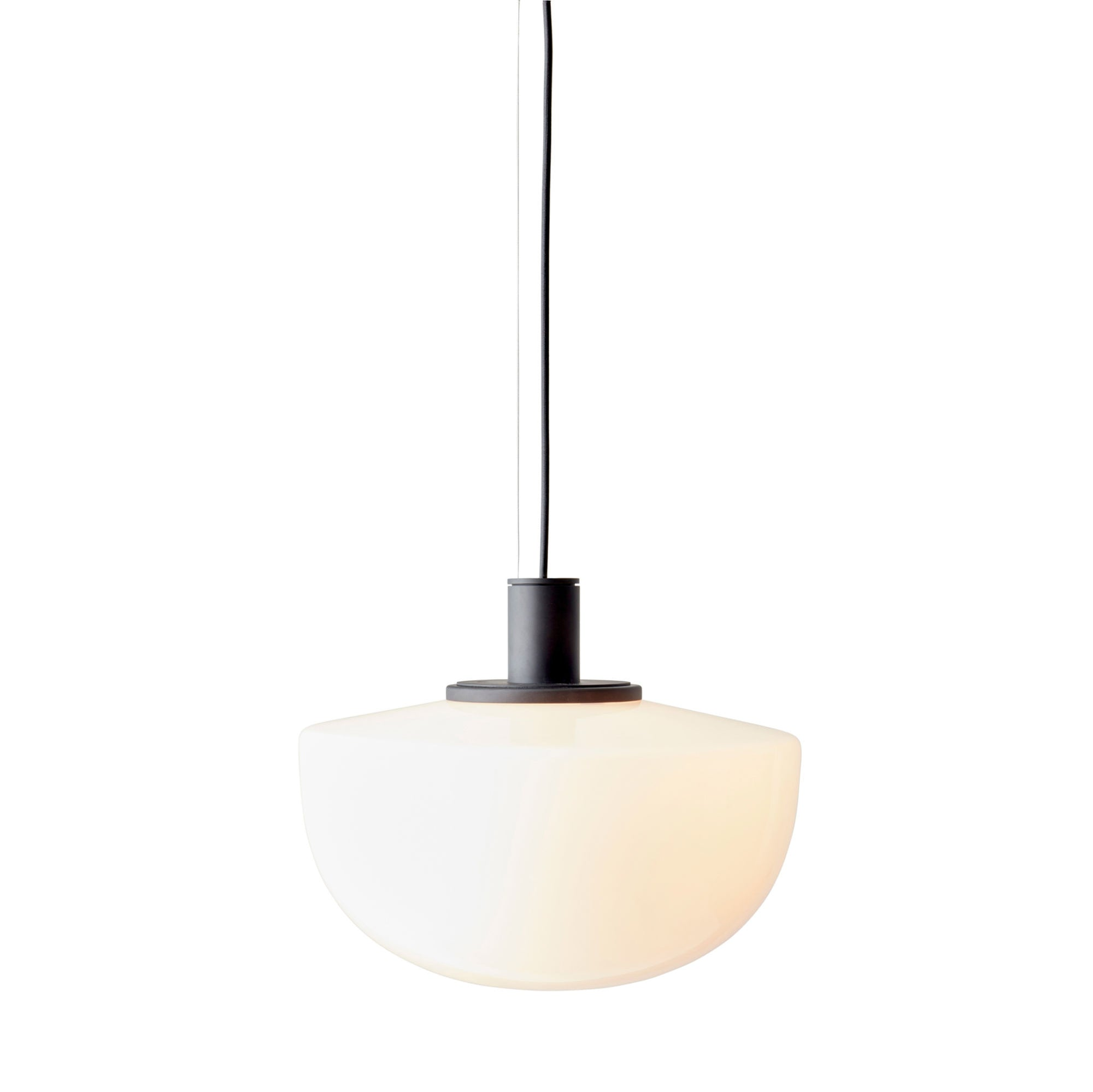 Menu Bank Pendant , Opal Glass