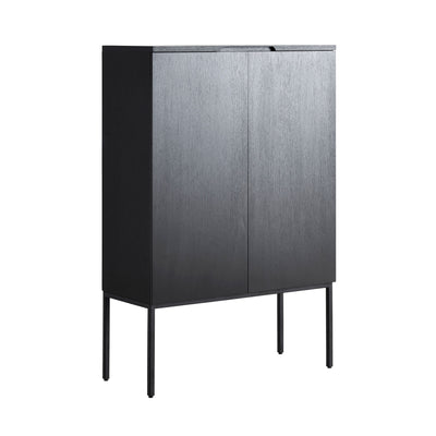 Woud Barn Highboard , Black Painted Oak