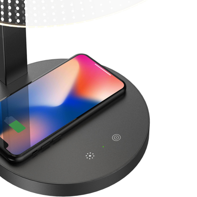 Above Lights Kong Qi wireless charging lamp, black twill