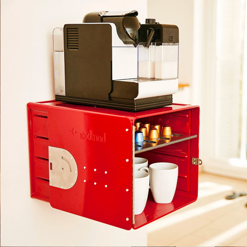 Bordbar Cube Wall Storage Box , Red