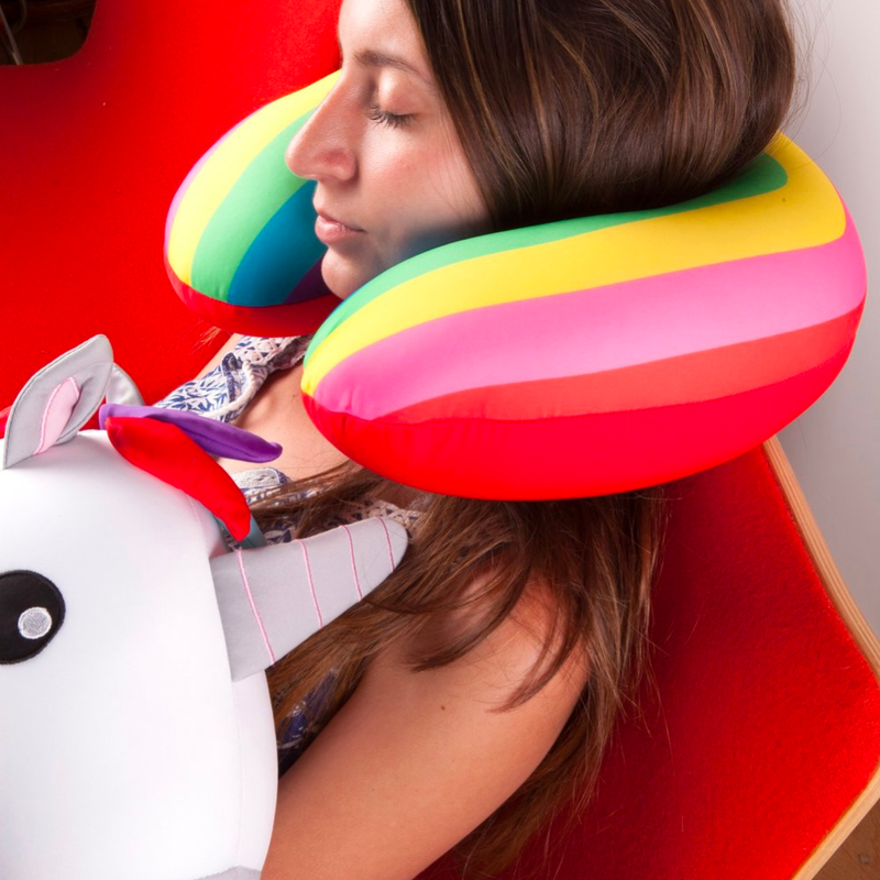 Kikkerland Zip & Flip Travel Pillow . Unicorn