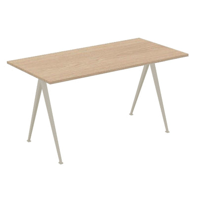 Hay Pyramid Desk 150x75 , Clear Lacquered Oak/Beige