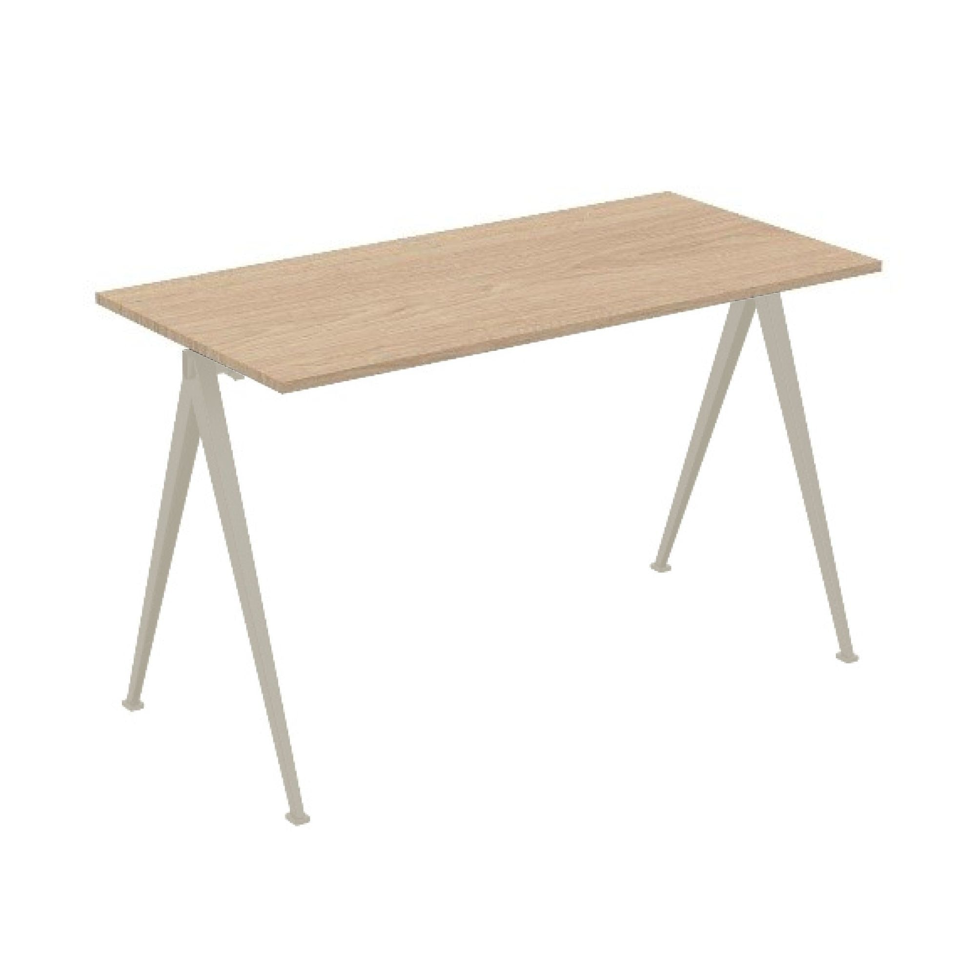 Hay Pyramid Desk 120x60 , Clear Lacquered Oak/Beige