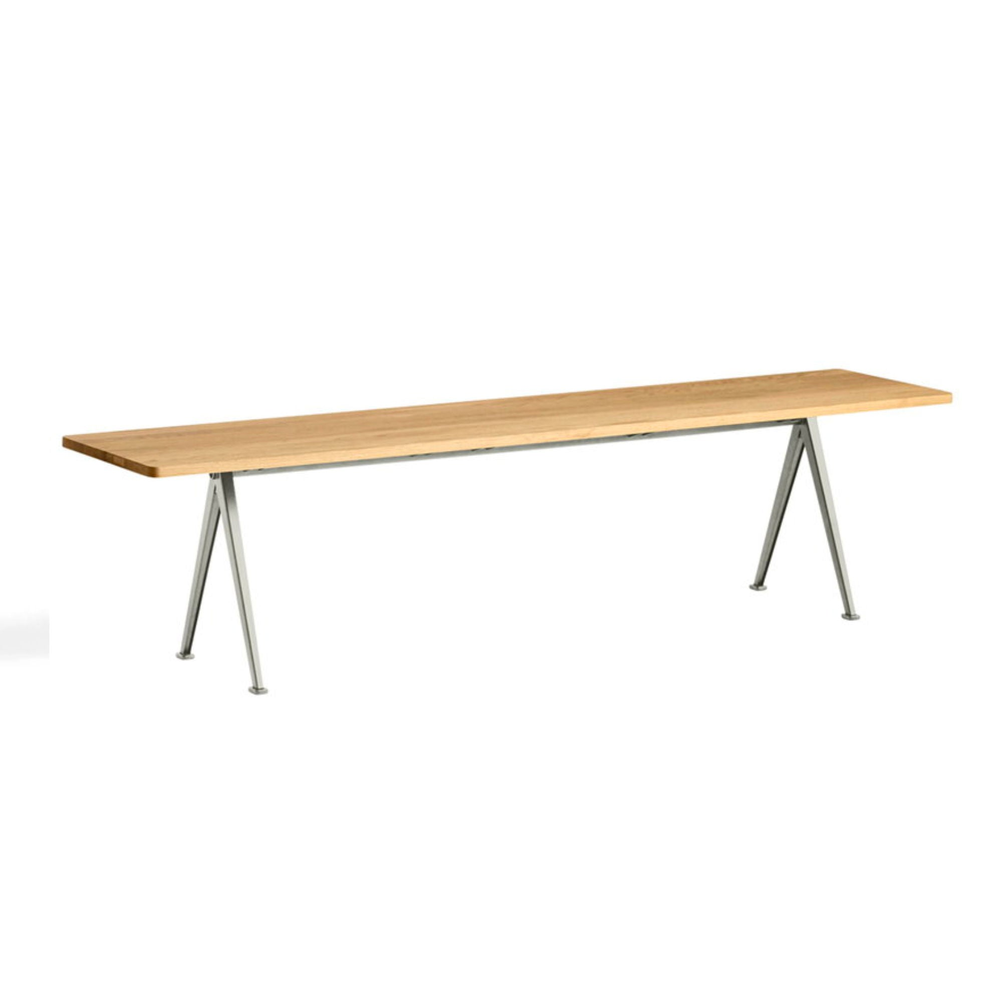Hay Pyramid Bench 12 L190 , Beige - Lacquered Oak