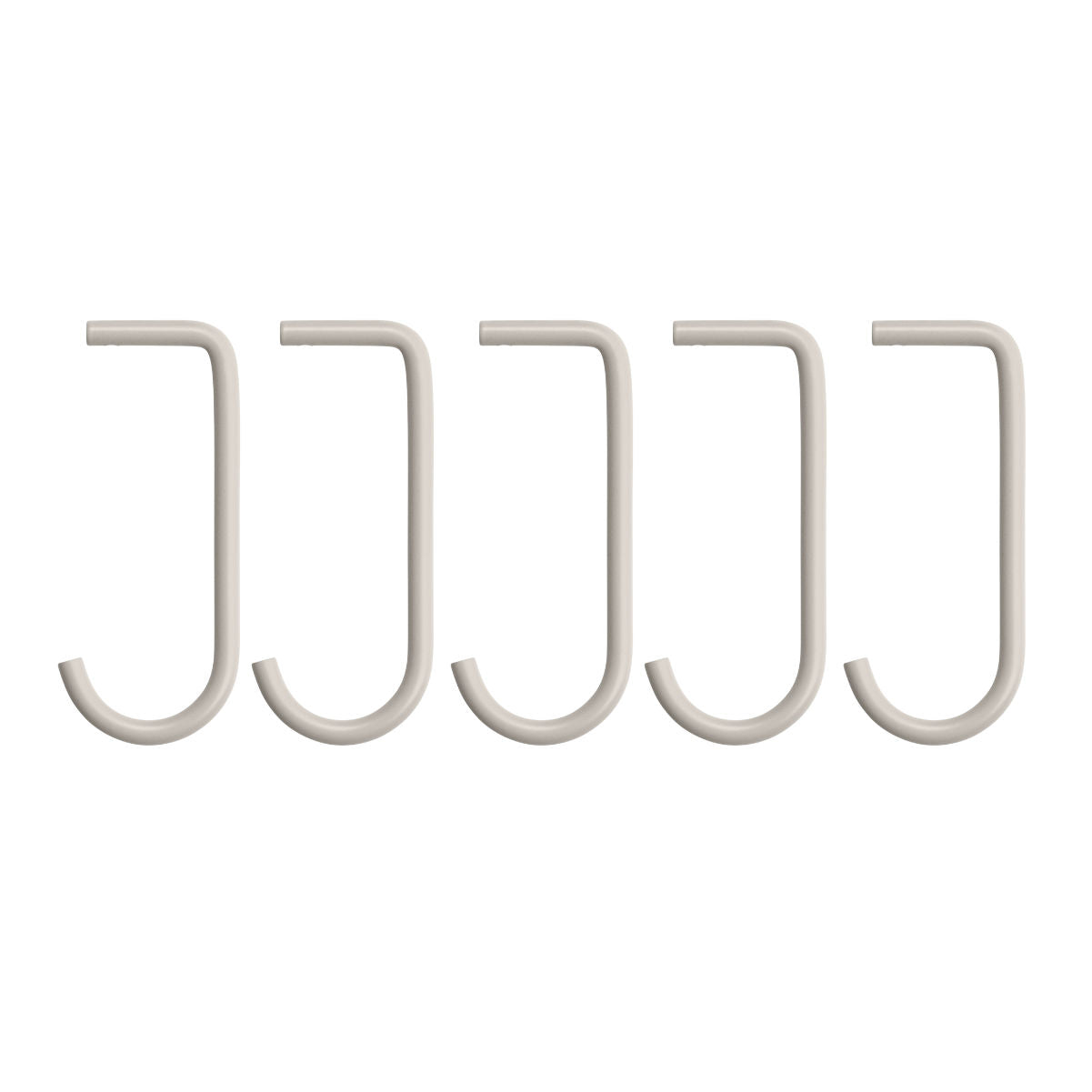 String Shelving System Metal Hook J, 5-pack