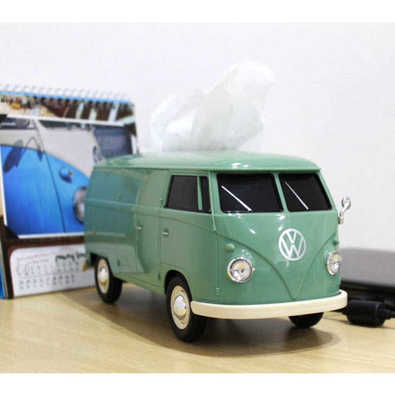 Volkswagen VW T1 Bue 1:16 Tissue Box , Green