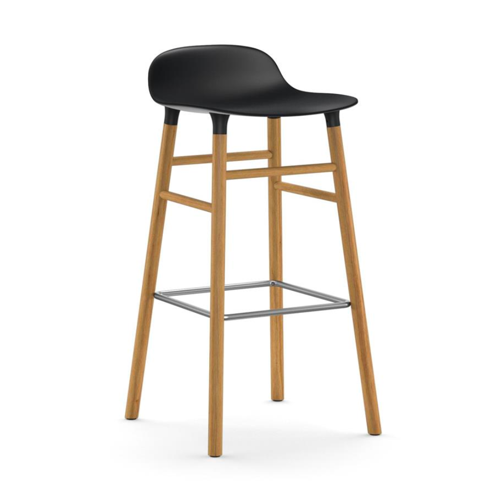 Normann Copenhagen Form Bar Stool Oak Legs 75cm