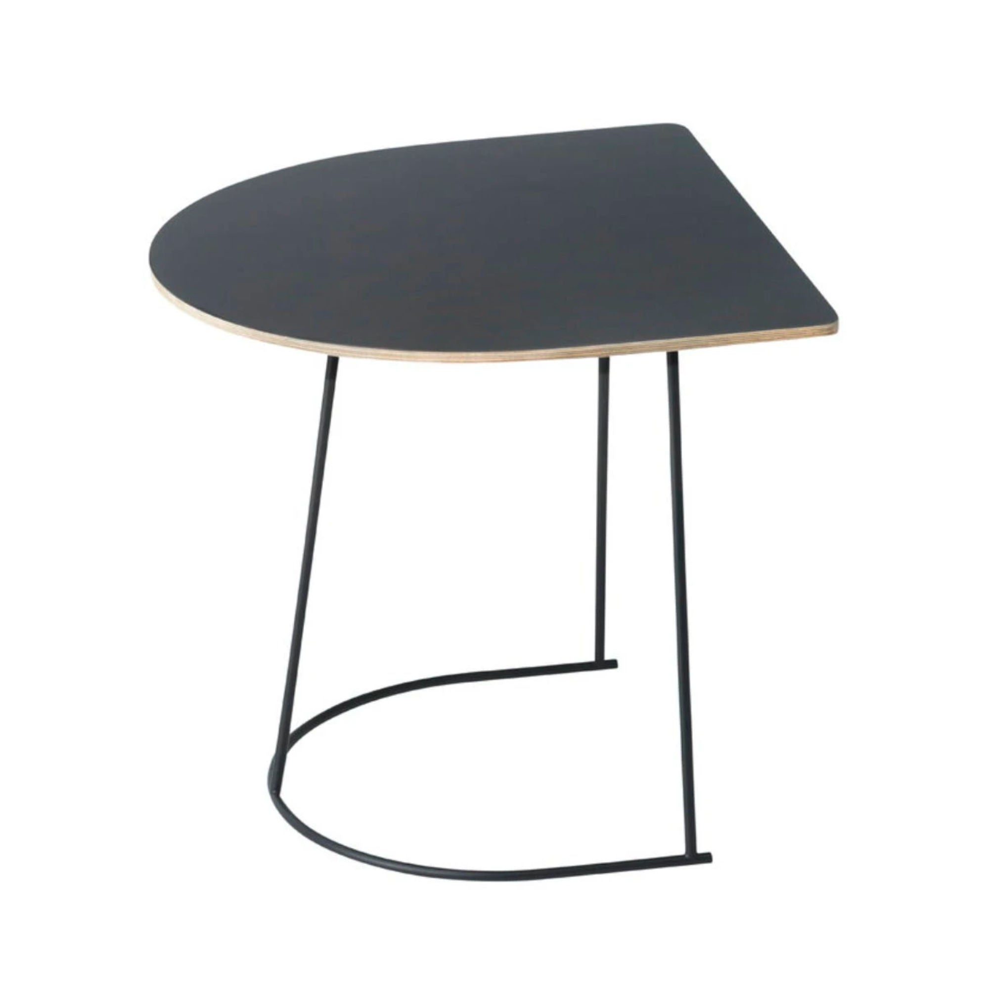 Muuto Airy Coffee Table Half Size , Black