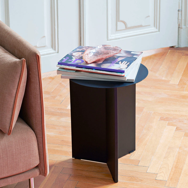 Hay Slit Side Table Round High Φ35 , Black