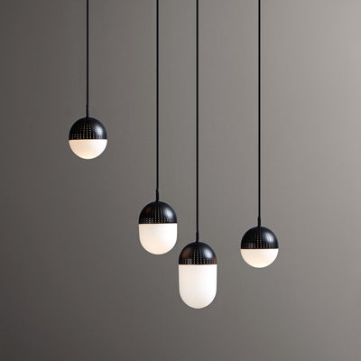 Woud Dot Pendant Large , Black