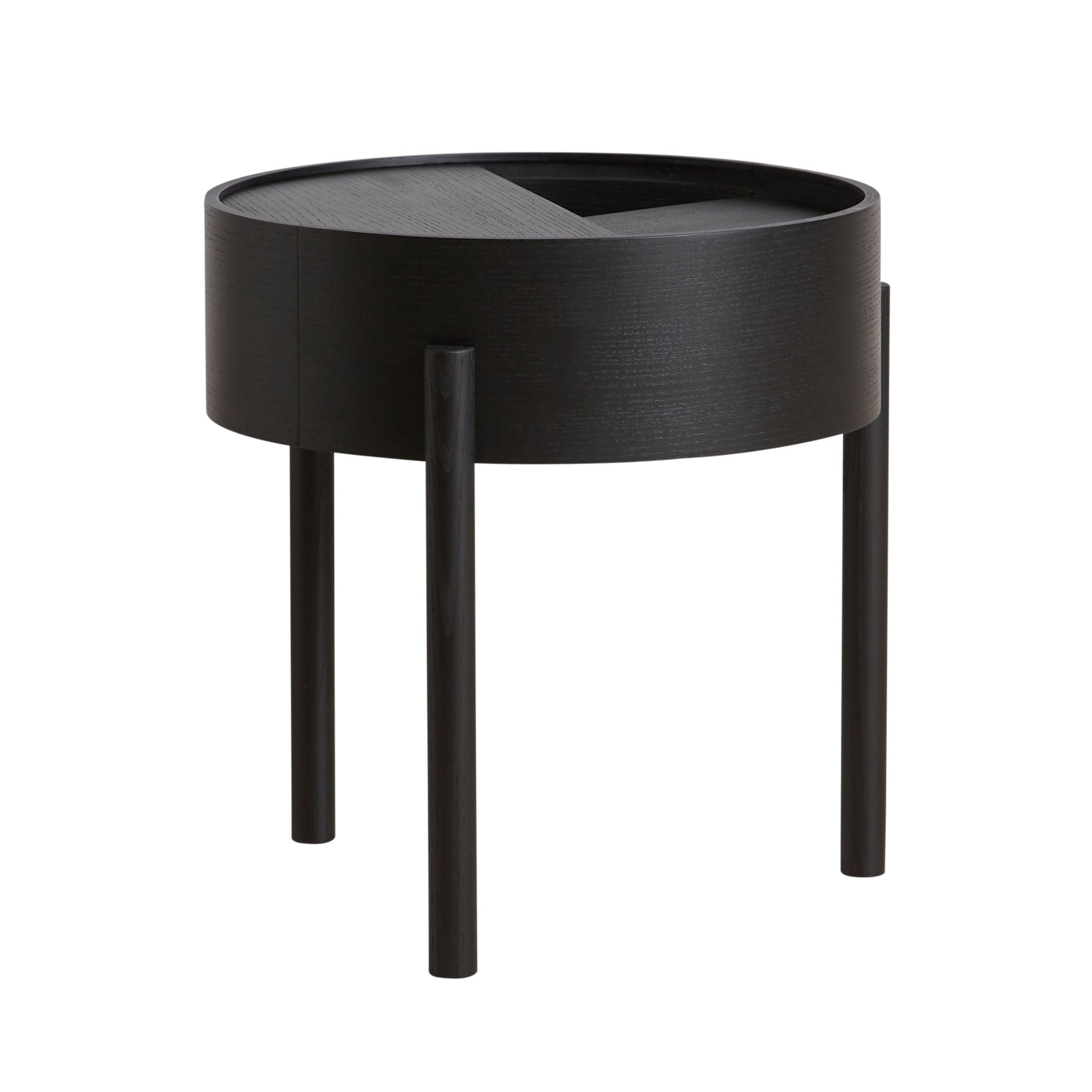 Woud Arc Side Table , Black Painted Ash