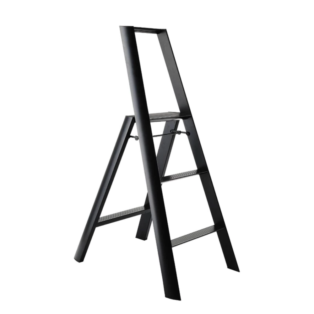 Metaphys Lucano Step Ladder 3 Step 122cm Black