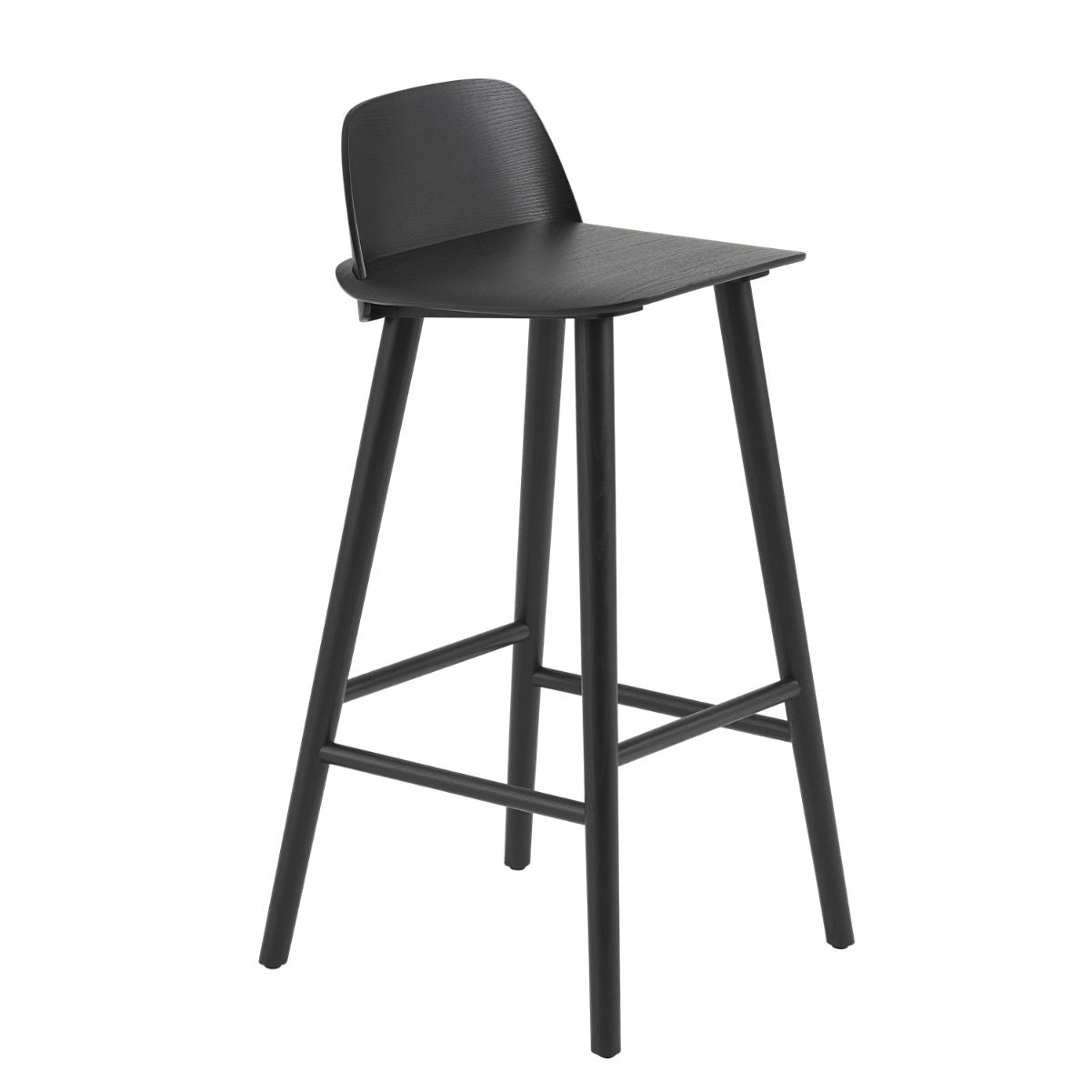 Muuto Nerd bar stool 75cm, black