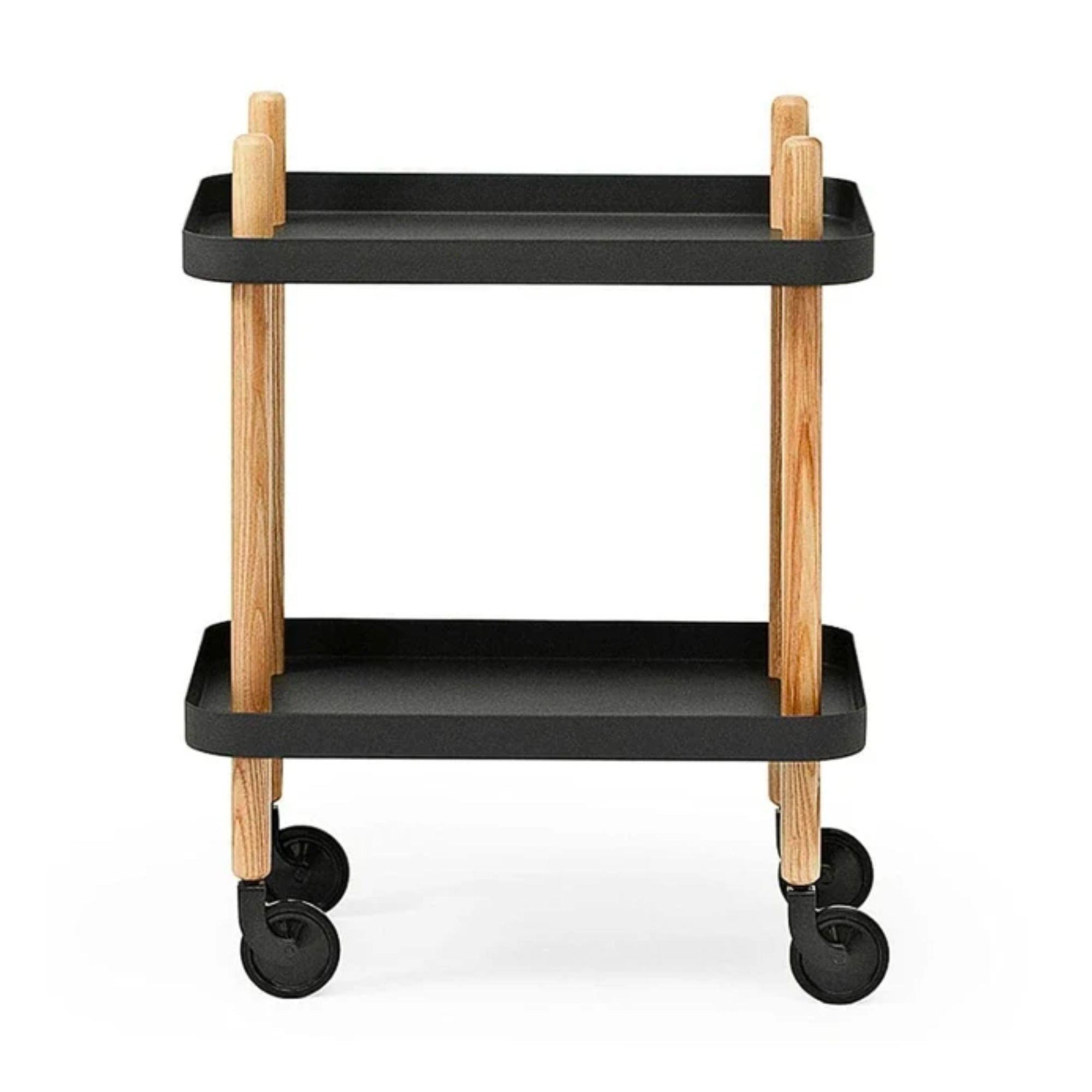 Normann Copenhagen Block Table , Black-Oak