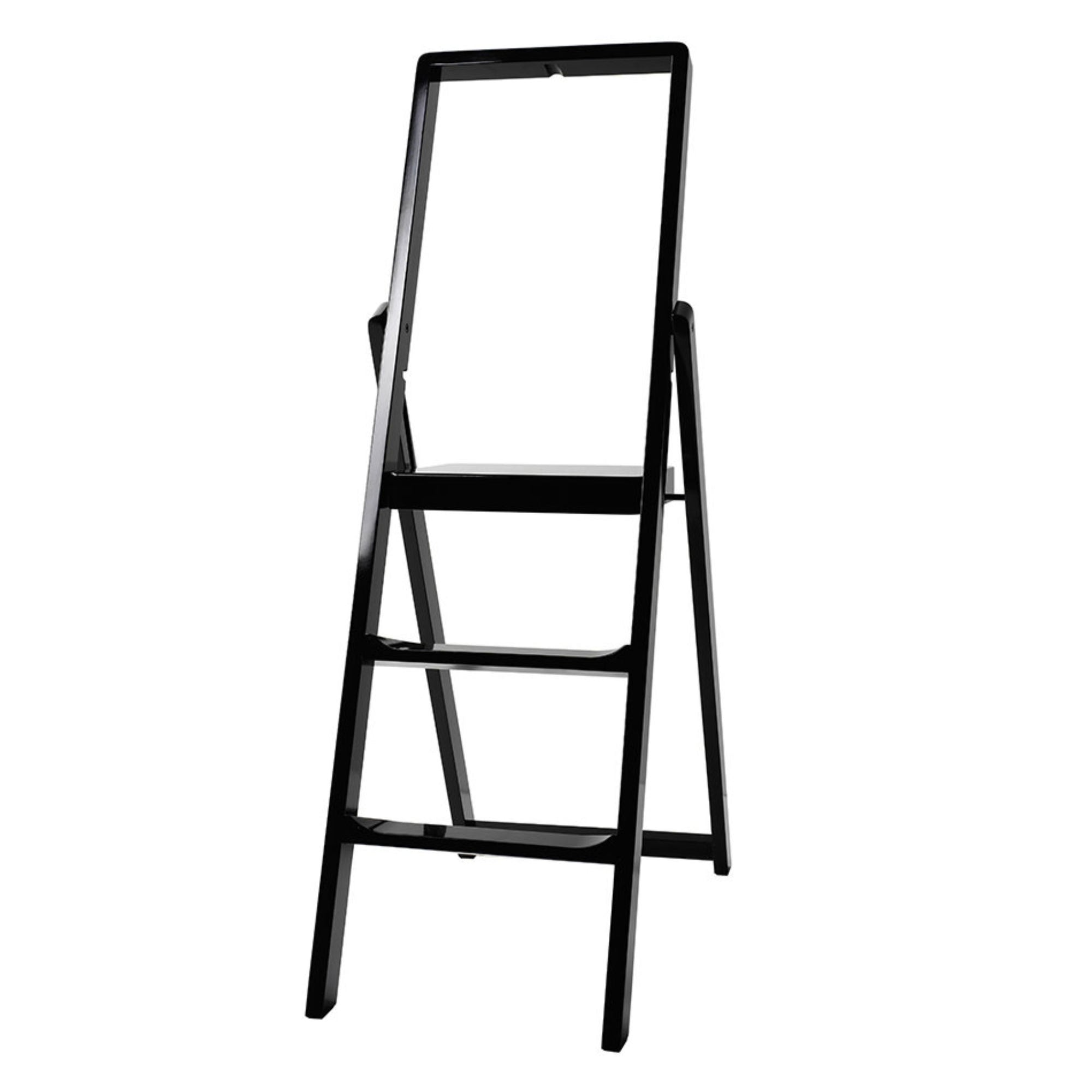 Design house Stockholm step ladder, 3 step, piano black
