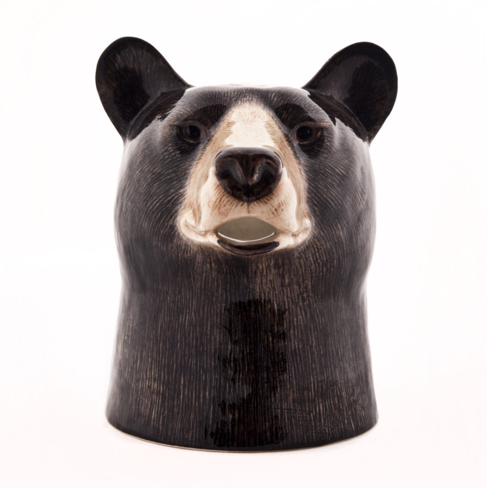 Quail Ceramics Black Bear Jug