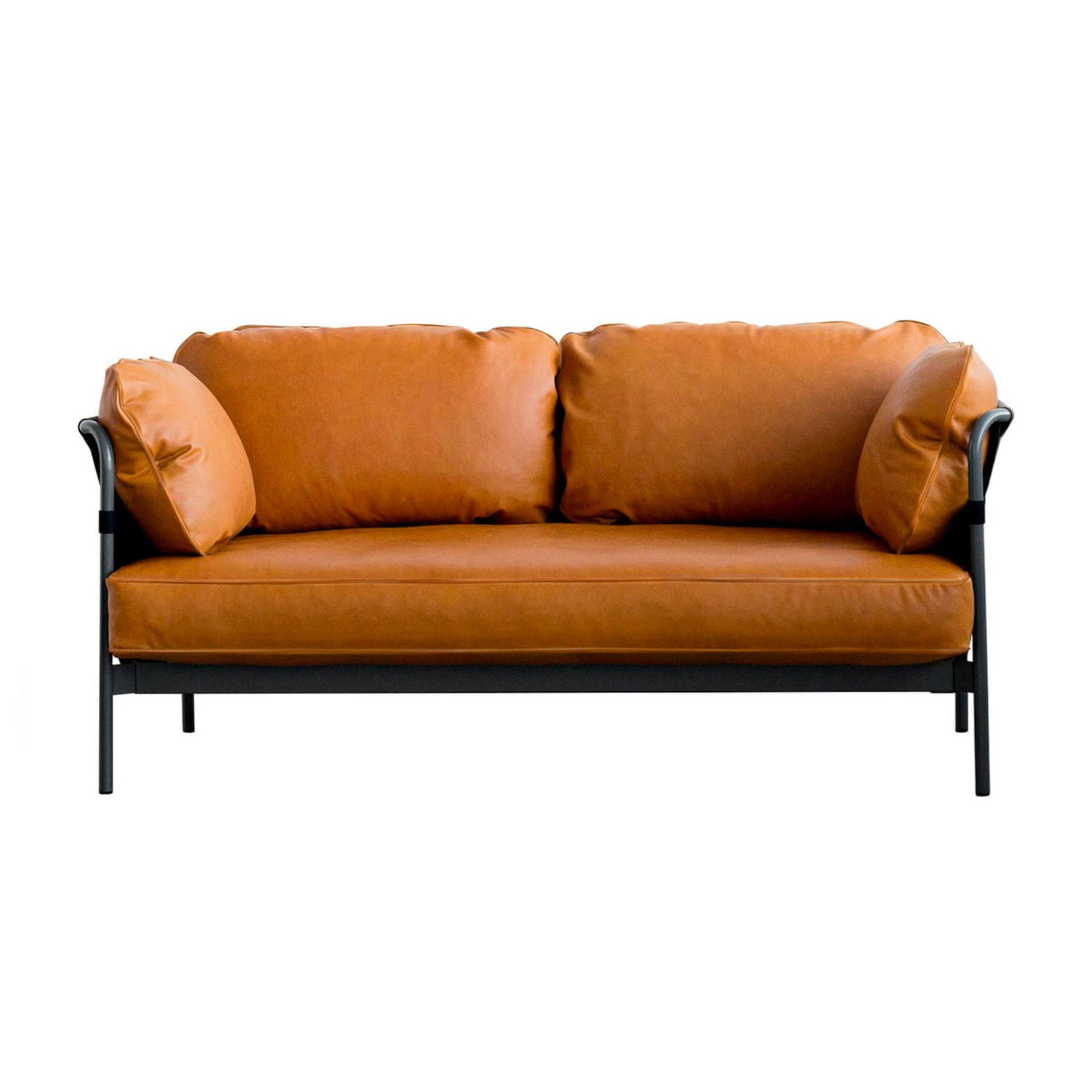 HAY Can 2-Seater Sofa 2.0, black - black - silk0250