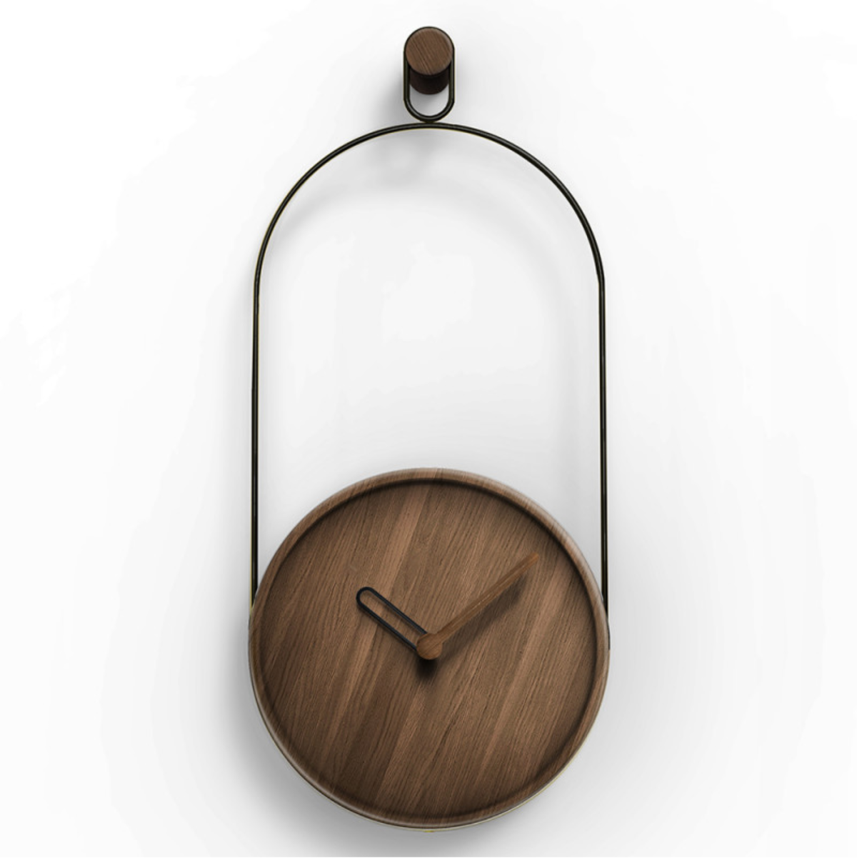 Nomon Eslabón Wall Clock H68cm Walnut