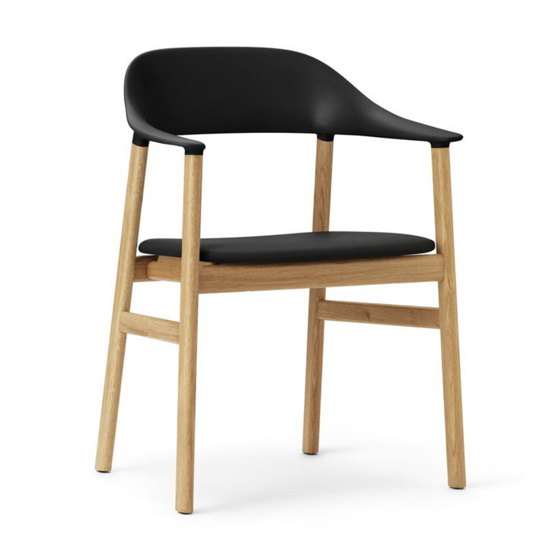 Normann Copenhagen Herit Armchair Oak Frame Leather Seat