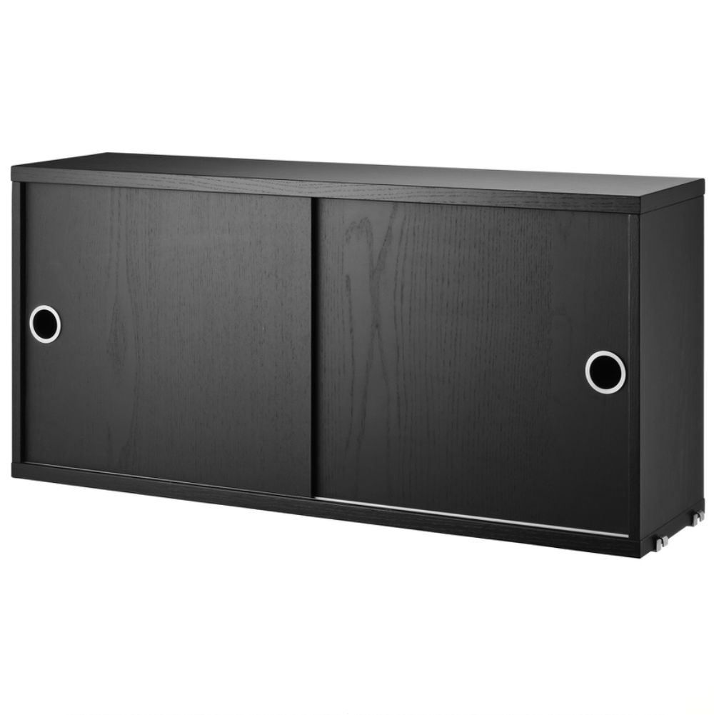 String Cabinet with Sliding Doors 78 * 37 * 20cm