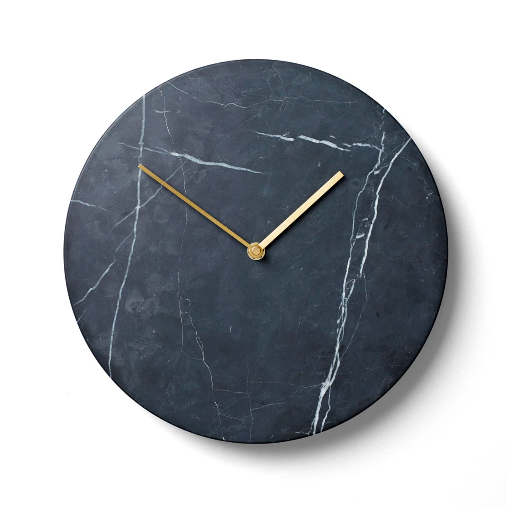 Menu Marble Wall Clock , Black