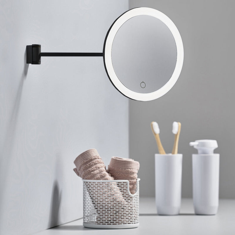Zone Denmark 5x Magnifying Make-up Mirror Wall , Black