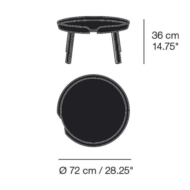 Muuto Around Coffee Table Large Ø72 , Black