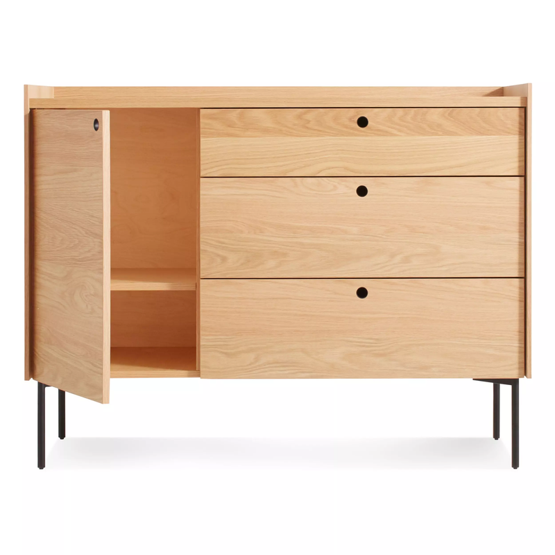 Blu Dot Peek 1 Door with 3 Drawers Credenza L125xD49xH97cm