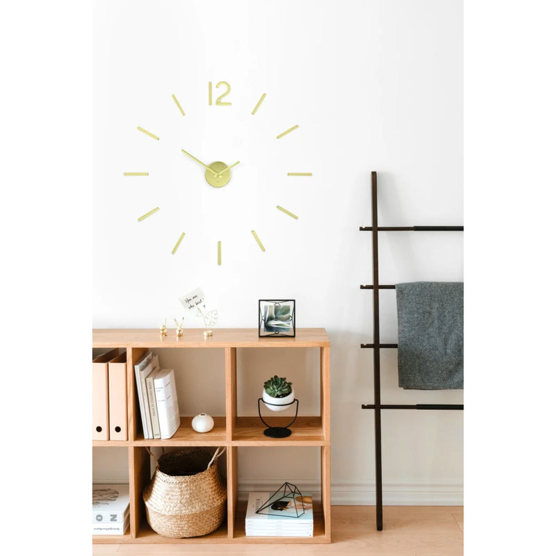 Umbra Blink wall clock, brass