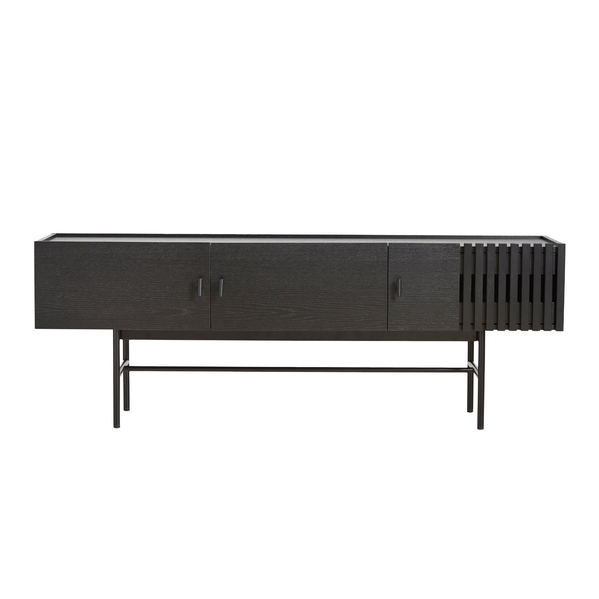 Woud Array Low Sideboard 150cm , Black Painted Oak