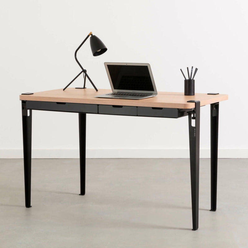 Tiptoe Monochrome Desk , Graphite Black
