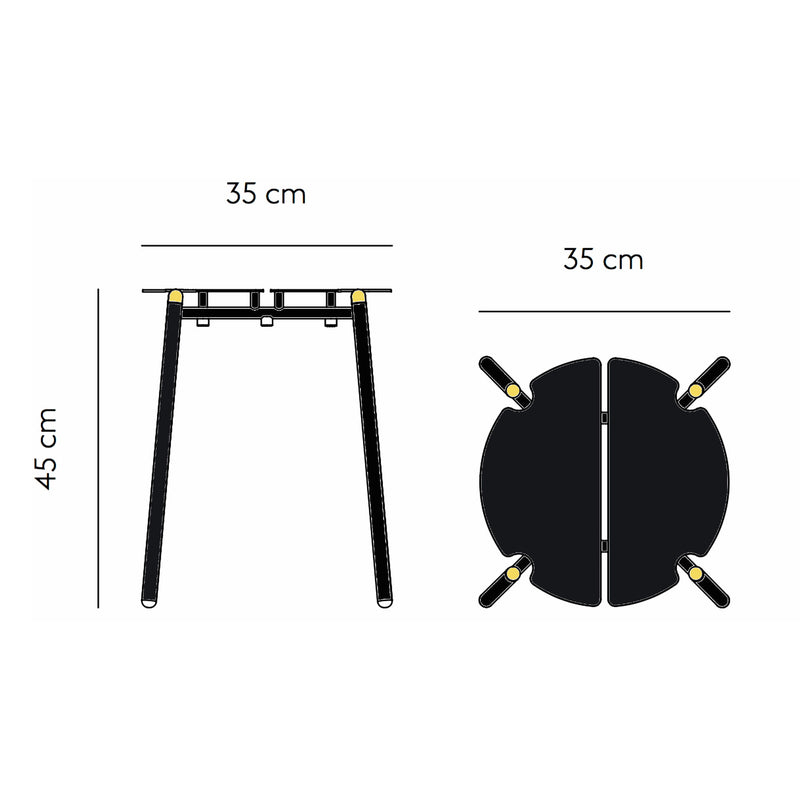 AYTM NOVO Stool , Black/Gold