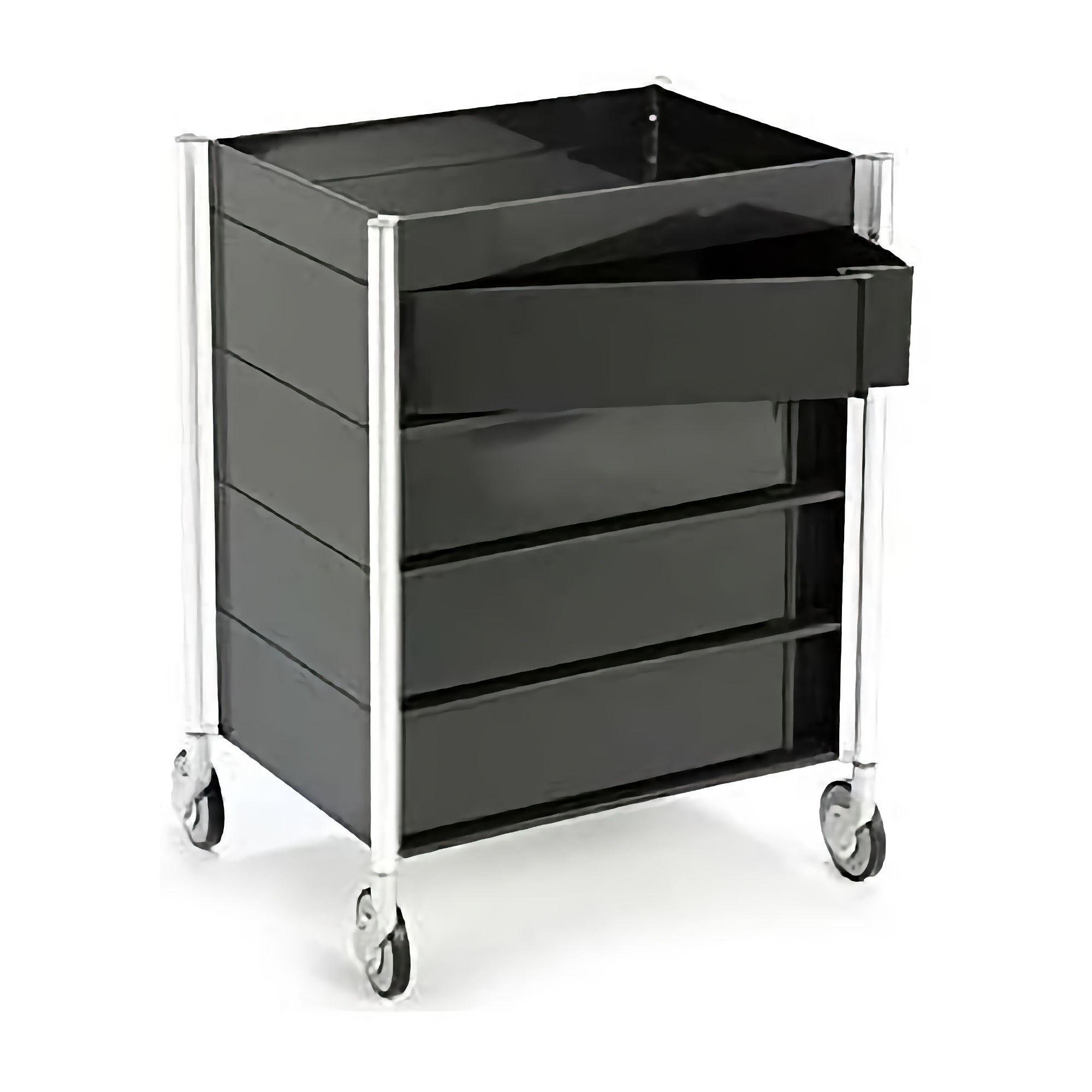 Studio Domo Ally Mid Trolley w. 4 Drawers , Black