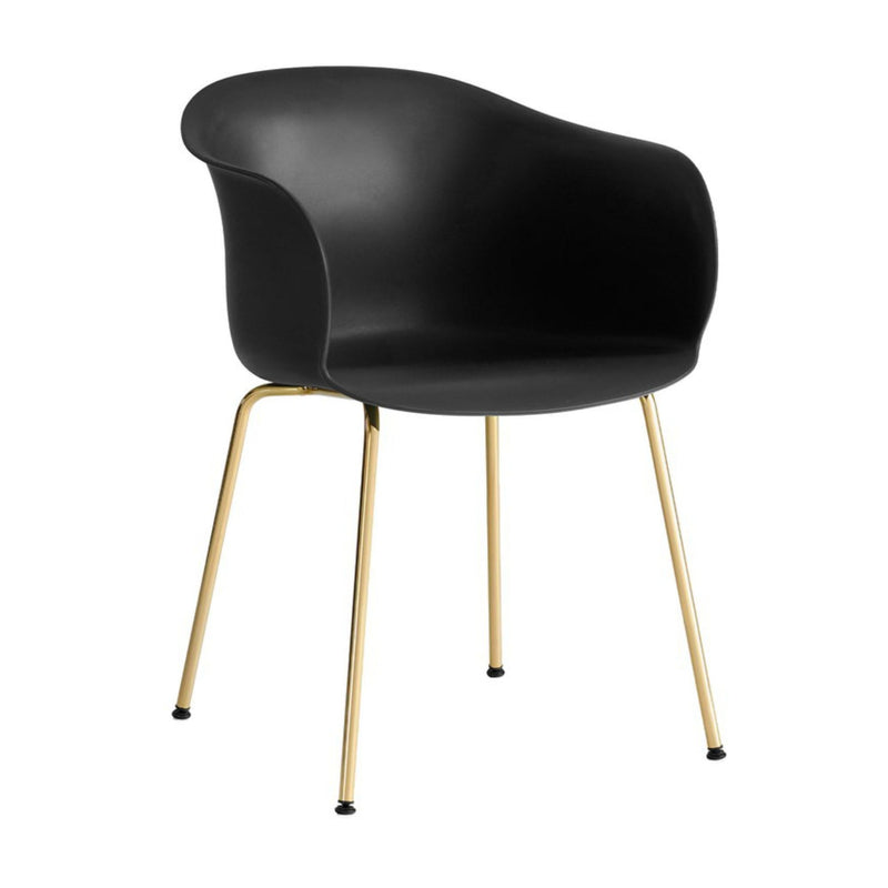 &Tradition JH28 Elefy Chair , Black - Brass
