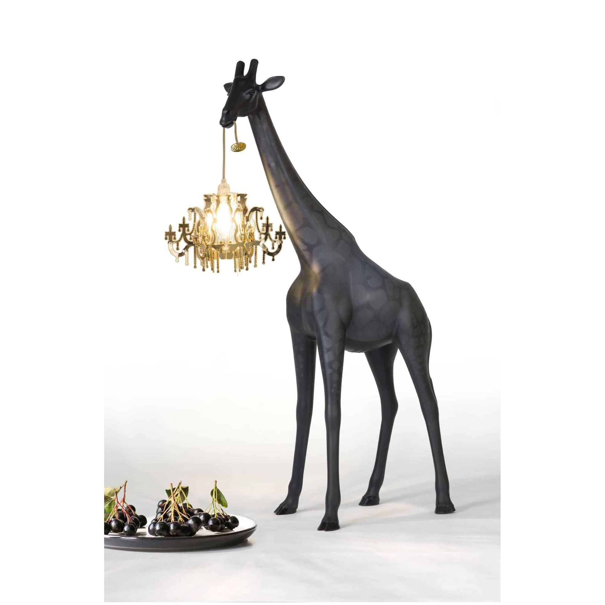 Qeeboo Giraffe in Love Lamp XS , Black