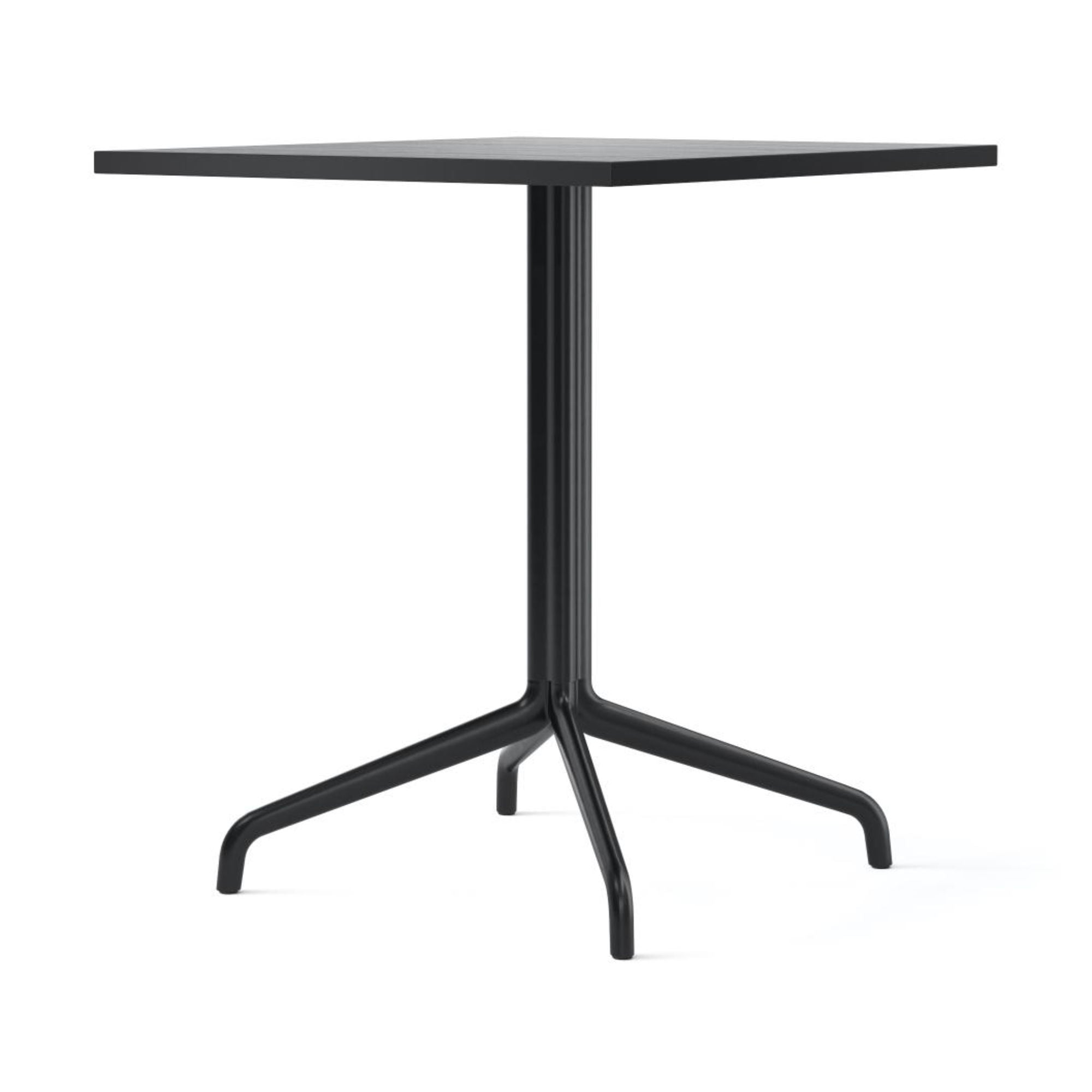Menu Harbour Column Dining Table Star Base 70x60cm , Black Steel-Black Oak