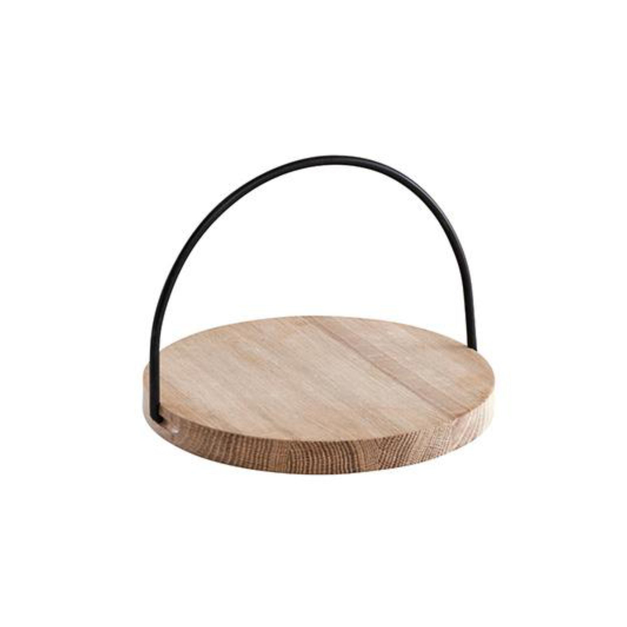 Woud Loop Tray Small , Black Handle
