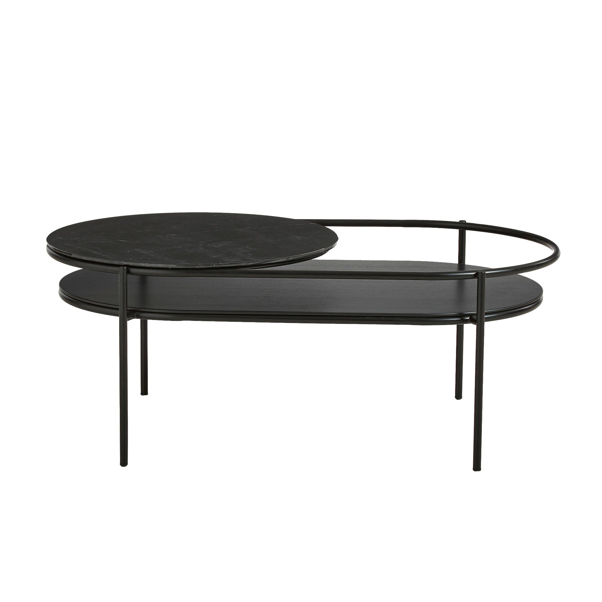 Woud Verde Coffee Table , Black Marble
