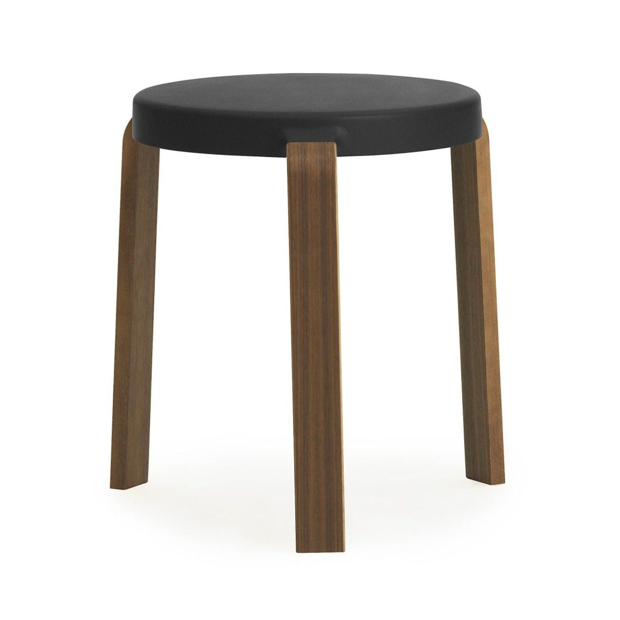Normann Copenhagen Tap Stool , Black - Walnut