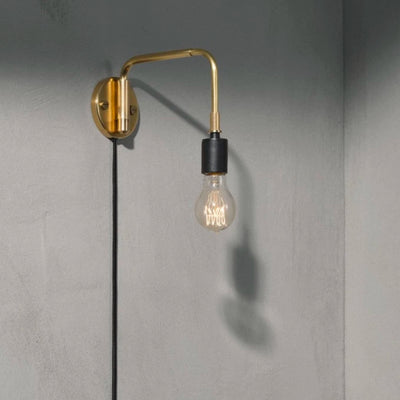 Menu Tribeca Staple Wall Lamp , Brushed Brass