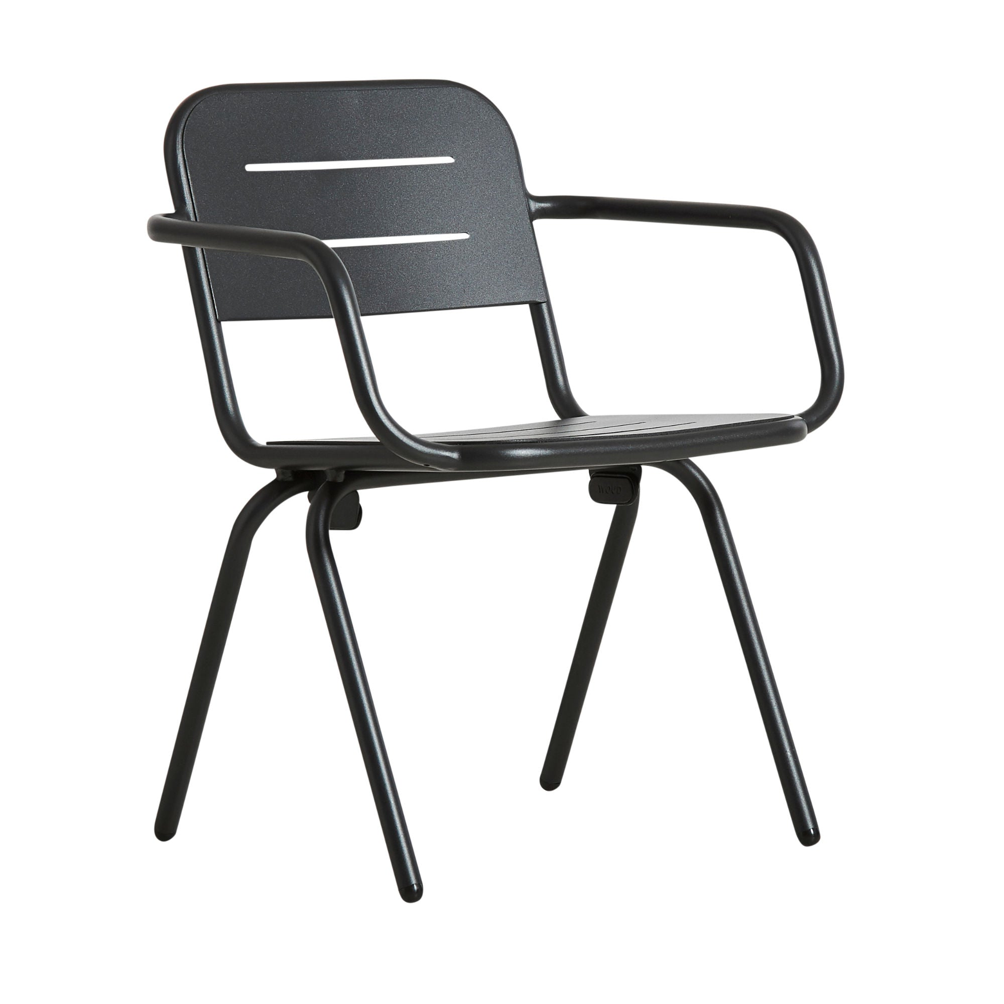 Woud Ray Dining Chair , Charcoal Black