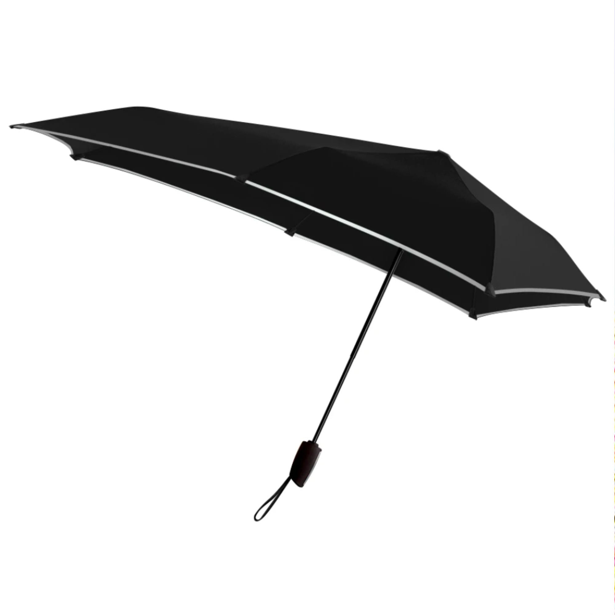 Senz° Automatic foldable umbrella, pure black reflective