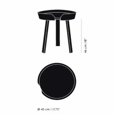 Muuto Around Coffee Table Small Ø45 , Black
