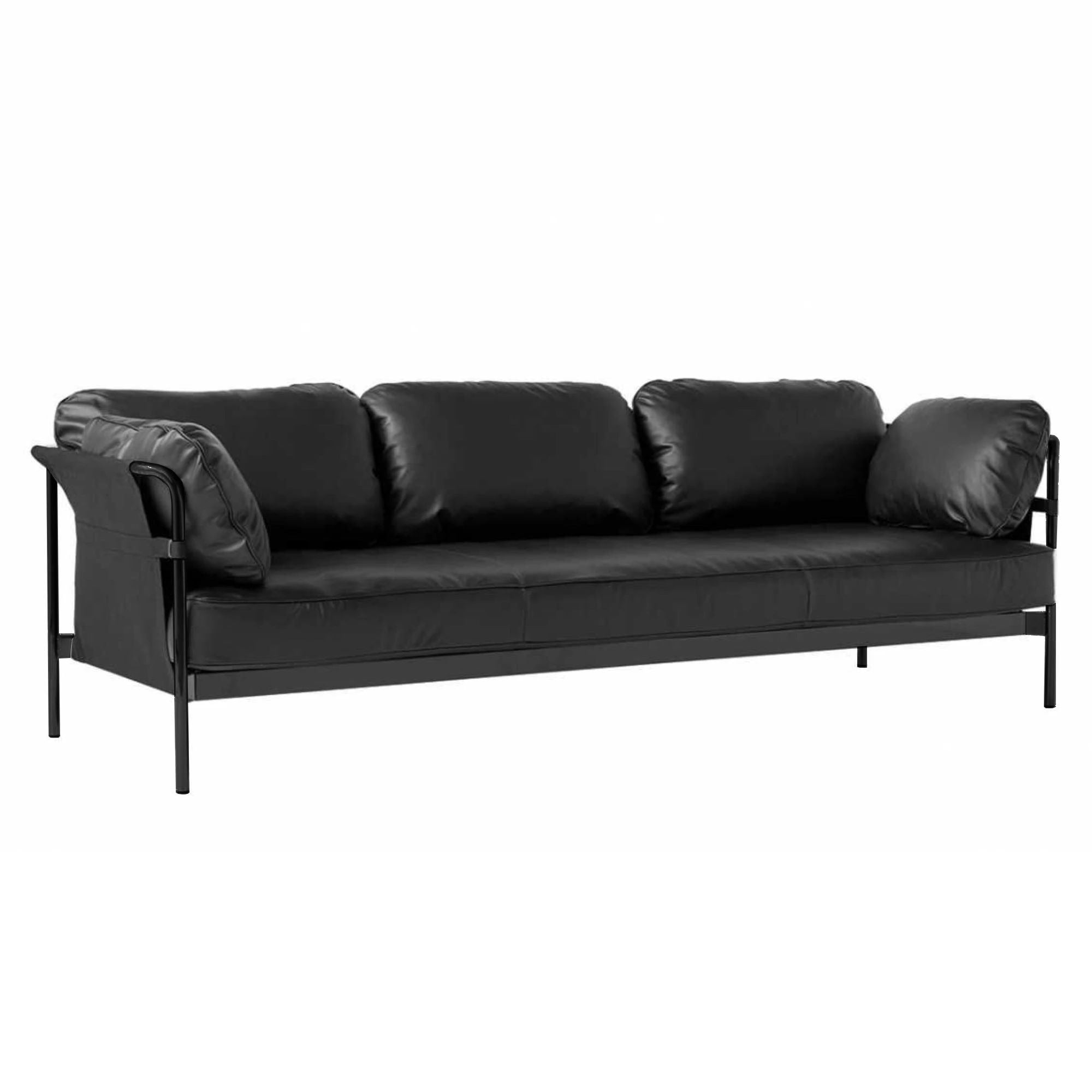 HAY Can 3-Seater Sofa 2.0 , Black-Black-Silk0842