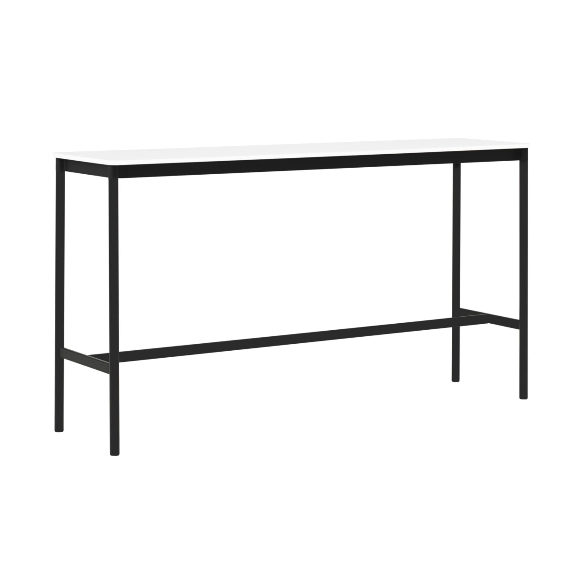 Muuto Base High Table 190x50 h:105cm , White Laminate/White ABS/Black