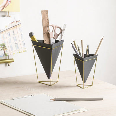 Umbra Trigg tabletop vessel, black - brass